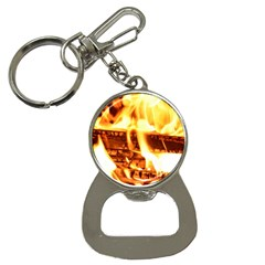 Fire Flame Wood Fire Brand Button Necklaces by Nexatart
