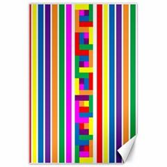 Rainbow Geometric Design Spectrum Canvas 24  X 36  by Nexatart