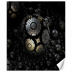 Fractal Sphere Steel 3d Structures Canvas 8  x 10  by Nexatart