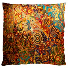 Ethnic Pattern Large Flano Cushion Case (two Sides) by Nexatart