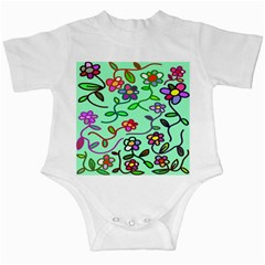 Flowers Floral Doodle Plants Infant Creepers by Nexatart