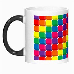 Rainbow 3d Cubes Red Orange Morph Mugs by Nexatart