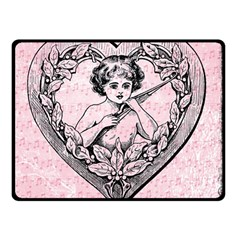 Heart Drawing Angel Vintage Double Sided Fleece Blanket (small)  by Nexatart