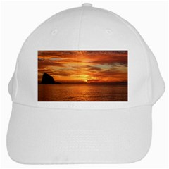 Sunset Sea Afterglow Boot White Cap by Nexatart