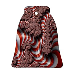 Fractal Abstract Red White Stripes Ornament (bell) by Nexatart