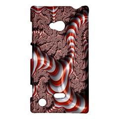 Fractal Abstract Red White Stripes Nokia Lumia 720 by Nexatart