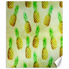 Pineapple Wallpaper Vintage Canvas 20  X 24   by Nexatart