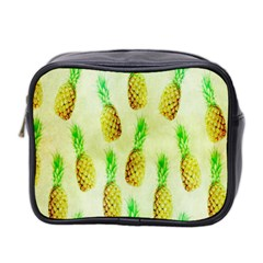 Pineapple Wallpaper Vintage Mini Toiletries Bag 2 Side by Nexatart