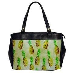 Pineapple Wallpaper Vintage Office Handbags by Nexatart