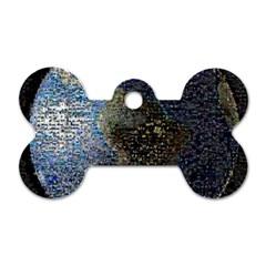 World Mosaic Dog Tag Bone (two Sides) by Nexatart