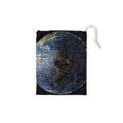 World Mosaic Drawstring Pouches (xs)  by Nexatart