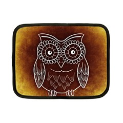 Owl Abstract Funny Pattern Netbook Case (small)  by Nexatart