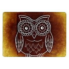 Owl Abstract Funny Pattern Samsung Galaxy Tab 10.1  P7500 Flip Case by Nexatart
