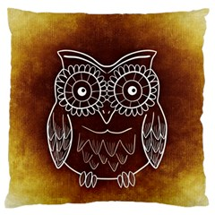 Owl Abstract Funny Pattern Large Flano Cushion Case (two Sides) by Nexatart