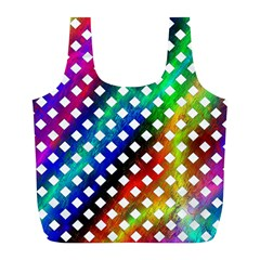Pattern Template Shiny Full Print Recycle Bags (l)  by Nexatart