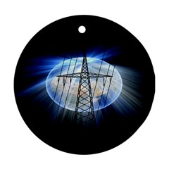 Energy Revolution Current Round Ornament (two Sides) by Nexatart