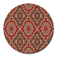 Seamless Carpet Pattern Round Mousepads by Nexatart