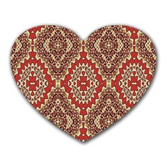 Seamless Carpet Pattern Heart Mousepads by Nexatart