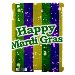 Happy Mardi Gras Poster Apple Ipad 3/4 Hardshell Case (compatible With Smart Cover) by dflcprints