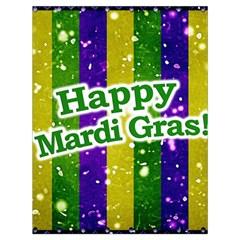 Happy Mardi Gras Poster Drawstring Bag (large) by dflcprints
