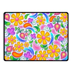Floral Paisley Background Flower Double Sided Fleece Blanket (small)  by Nexatart