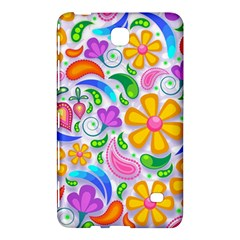 Floral Paisley Background Flower Samsung Galaxy Tab 4 (8 ) Hardshell Case  by Nexatart