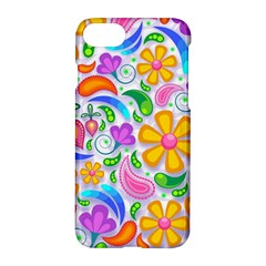Floral Paisley Background Flower Apple iPhone 7 Hardshell Case by Nexatart