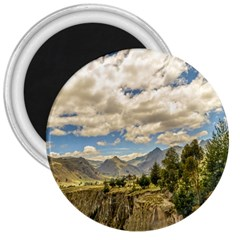 Valley And Andes Range Mountains Latacunga Ecuador 3  Magnets by dflcprints