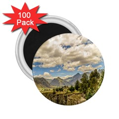 Valley And Andes Range Mountains Latacunga Ecuador 2 25  Magnets (100 Pack)  by dflcprints