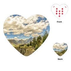 Valley And Andes Range Mountains Latacunga Ecuador Playing Cards (heart)  by dflcprints