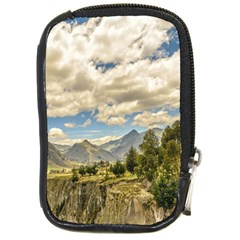 Valley And Andes Range Mountains Latacunga Ecuador Compact Camera Cases by dflcprints