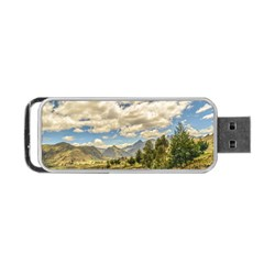 Valley And Andes Range Mountains Latacunga Ecuador Portable USB Flash (One Side) by dflcprints