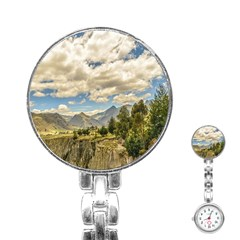 Valley And Andes Range Mountains Latacunga Ecuador Stainless Steel Nurses Watch by dflcprints