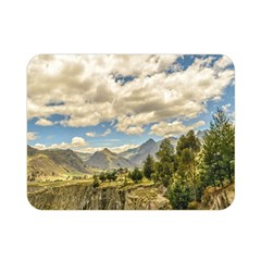 Valley And Andes Range Mountains Latacunga Ecuador Double Sided Flano Blanket (mini)  by dflcprints