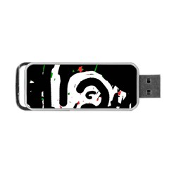 Abstraction Portable USB Flash (One Side) by Valentinaart