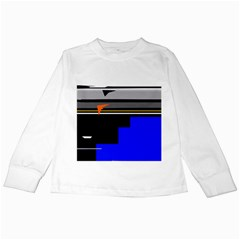 Abstraction Kids Long Sleeve T-Shirts by Valentinaart