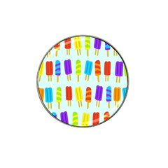 Food Pattern Hat Clip Ball Marker by Nexatart