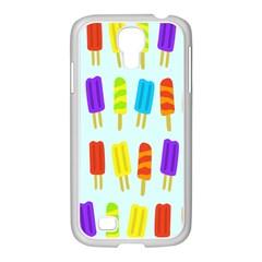 Food Pattern Samsung Galaxy S4 I9500/ I9505 Case (white) by Nexatart