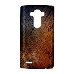 Typography LG G4 Hardshell Case by Nexatart