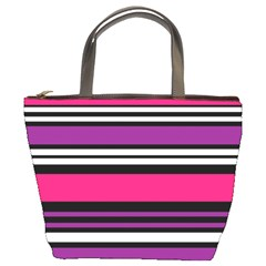Stripes Colorful Background Bucket Bags by Nexatart