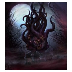 Eldritch Monster Bag By Thomas Covert   Drawstring Pouch (large)   Rn8leom8g4ne   Www Artscow Com Front