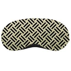 Woven2 Black Marble & Beige Linen (r) Sleeping Mask by trendistuff