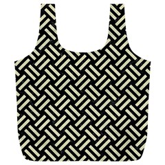 Woven2 Black Marble & Beige Linen Full Print Recycle Bag (xl) by trendistuff