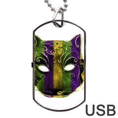 Catwoman Mardi Gras Mask Dog Tag Usb Flash (two Sides) by dflcprints