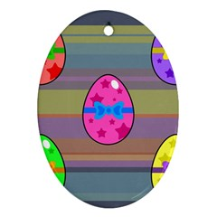 Holidays Occasions Easter Eggs Ornament (Oval) by Nexatart