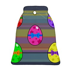 Holidays Occasions Easter Eggs Bell Ornament (Two Sides) by Nexatart