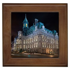 Montreal Quebec Canada Building Framed Tiles by Nexatart