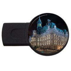 Montreal Quebec Canada Building Usb Flash Drive Round (2 Gb) by Nexatart