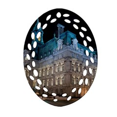 Montreal Quebec Canada Building Oval Filigree Ornament (two Sides) by Nexatart
