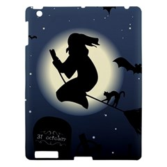 Halloween Card With Witch Vector Clipart Apple Ipad 3/4 Hardshell Case by Nexatart
